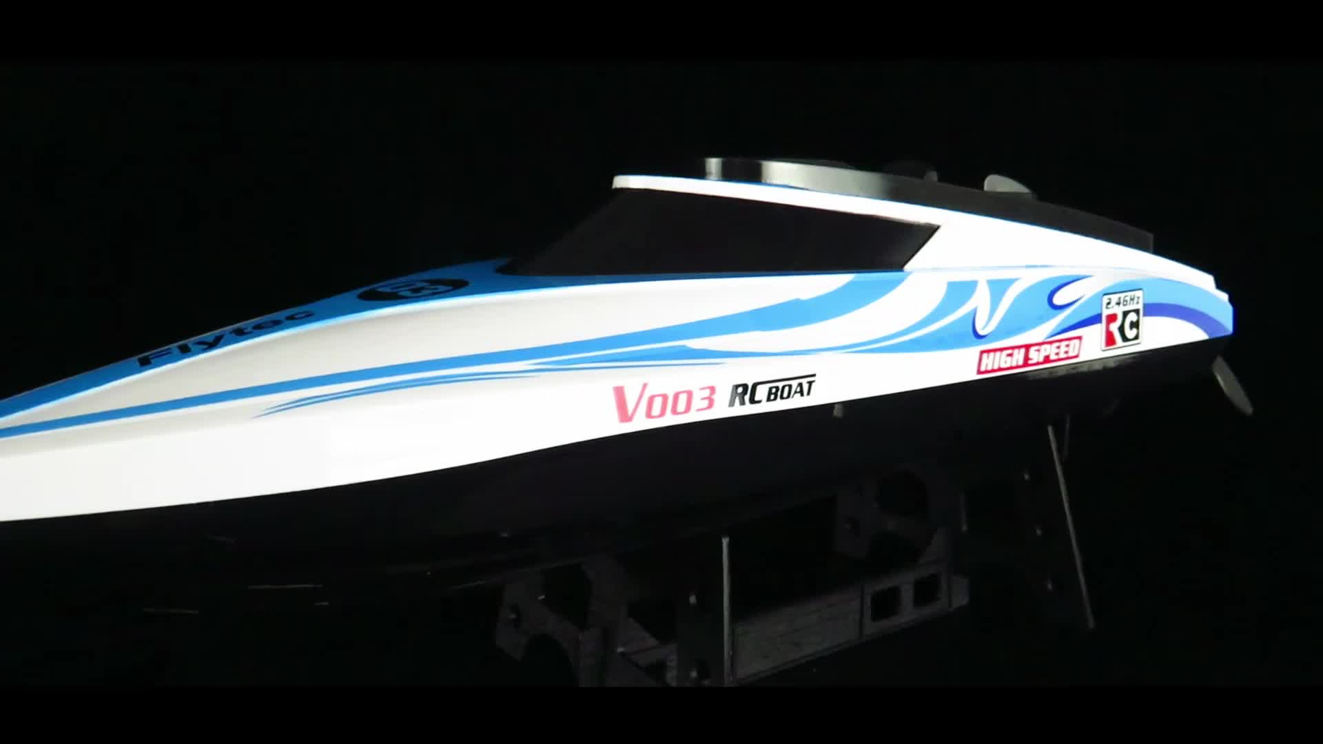 New Flytec V003 2.4GHz 30KM/h Speed Boat With Water Cooling System Remote Control RC Boat RTR Orange