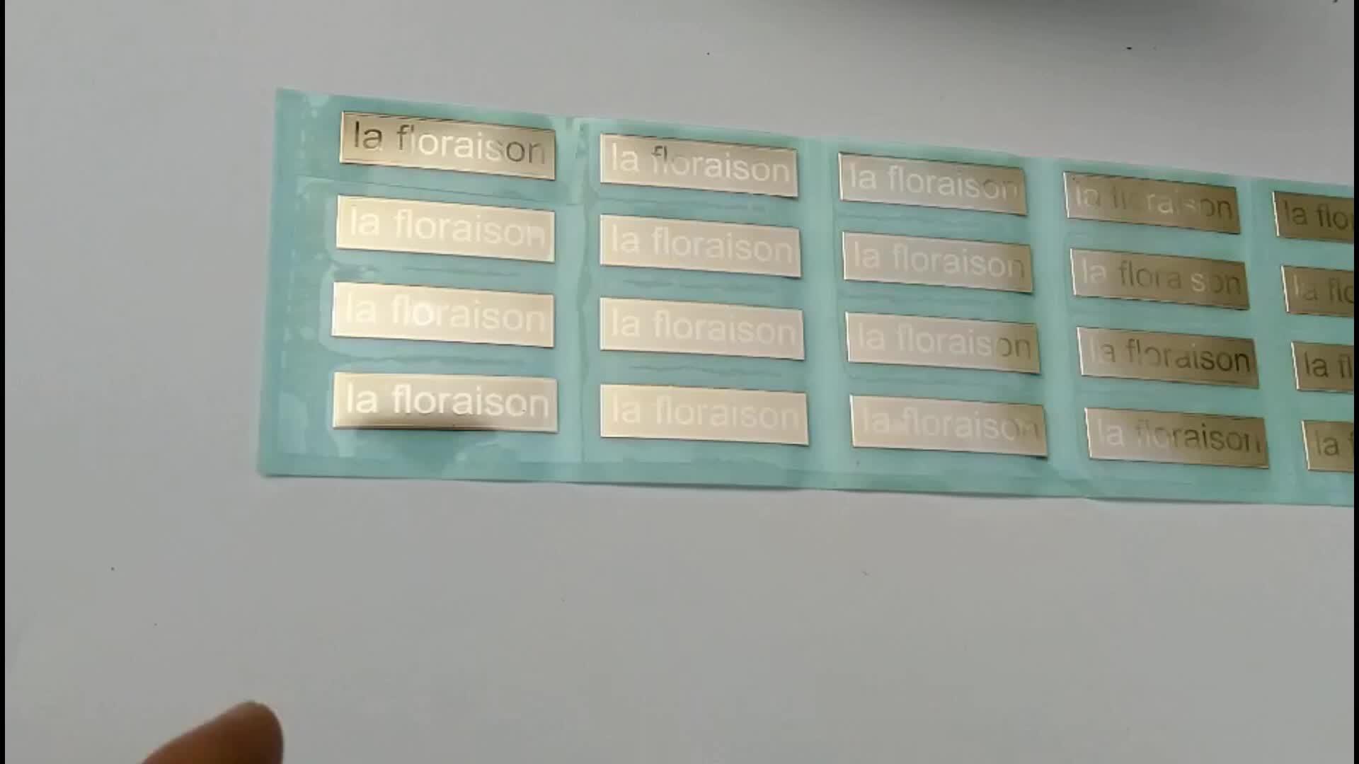 Benutzerdefinierte Klebstoff Metall Folie Aufkleber Etiketten MOQ 1 Blatt durch Freies Verschiffen