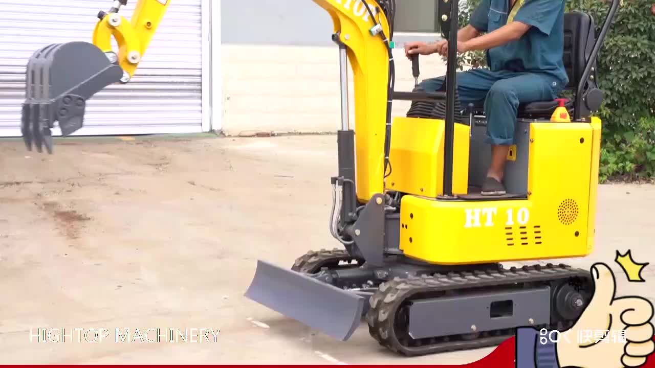 2020 New mini excavator micro digger 1ton with 2 buckets free  for sale