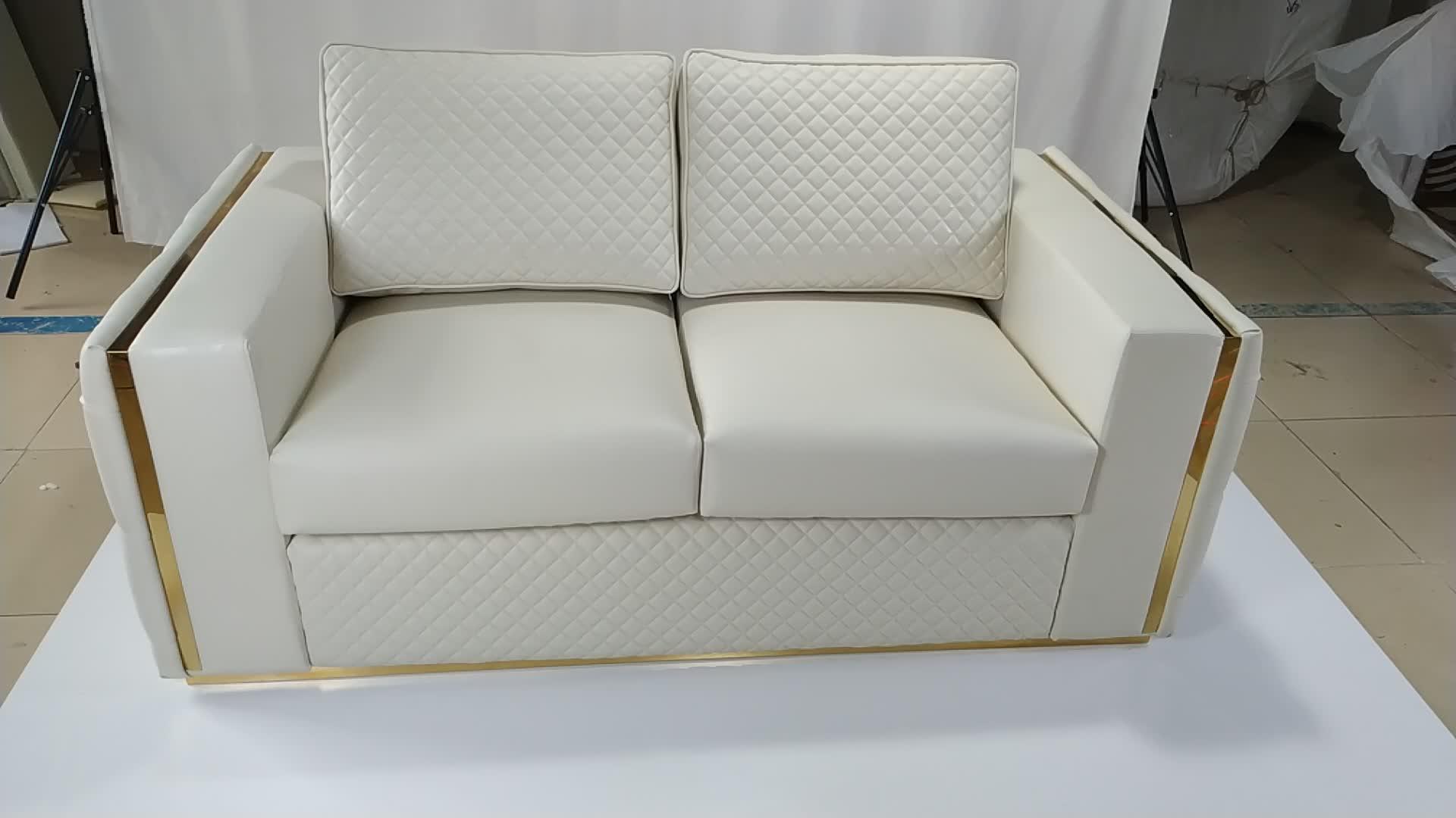 Nubuck leather new model sofa sets pictures luxury lounge furniture wedding Leather sofa set