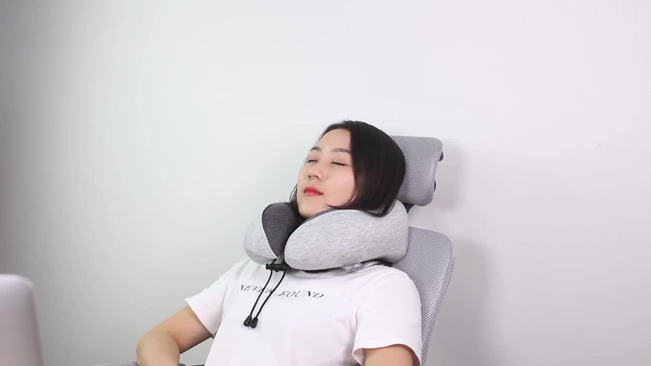 Design ergonômico Macio Inflável Cabeça Apoio Do Corpo Do Pescoço Escritório Cochilo Travesseiro de Viagem de Avião