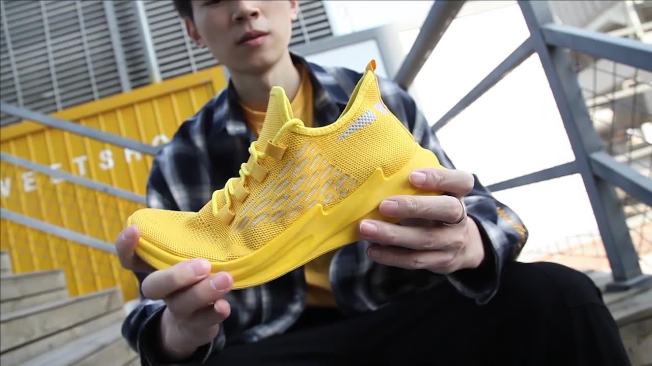 New ARRIVAL Breathable รองเท้าวิ่งสีขาวกีฬาผู้ชายรองเท้ากลางแจ้ง