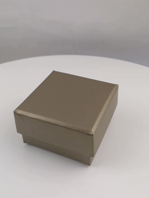Blau luxus Gebürstet spezielle papier schmuck verpackung box mit samt einsatz