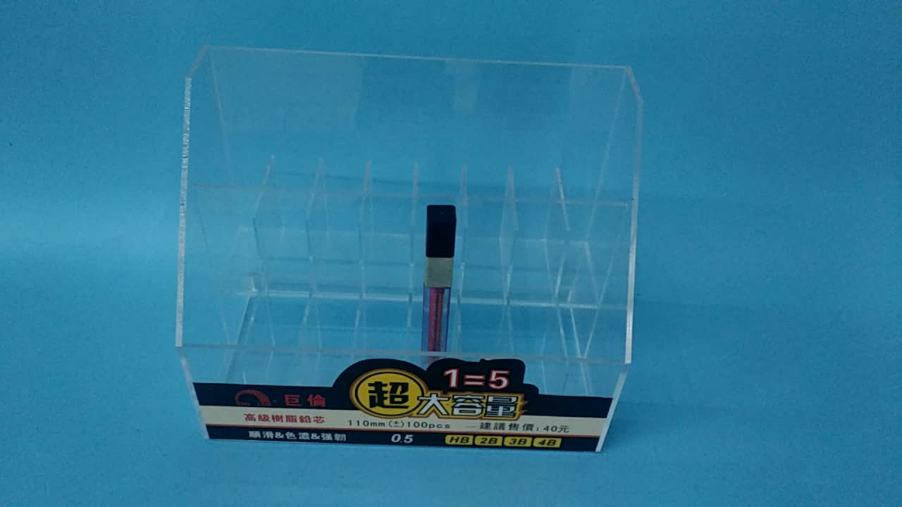 Clear Acrylic Automatic Pencil Lead Display Stand