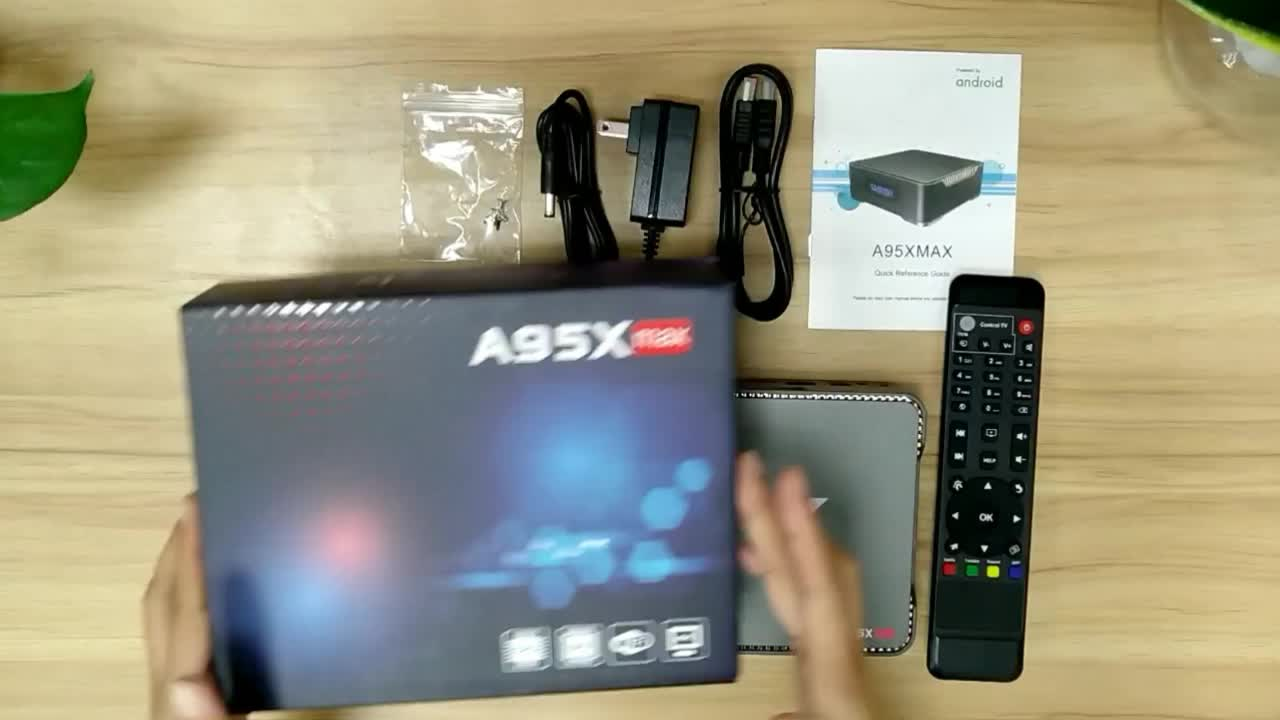 Asher Android 8.1 TV Box A95X 4GB RAM 64GB ROM Amlogic S905X2 Quad Core 64bit Smart TV Box with Recording Function