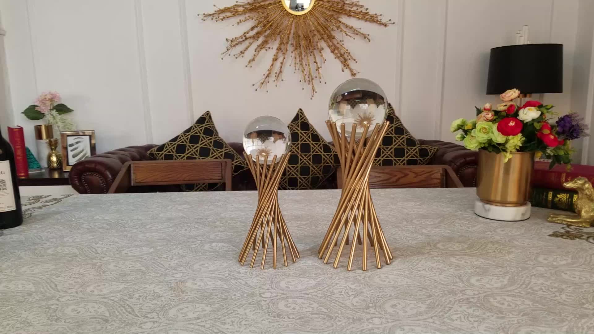 Graphic designing crystal ball on stand fancy home decor or wedding souvenir