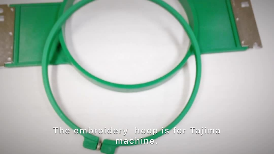 Wholesale Embroidery Machine Parts 18cm Large Plastic Green Hoop ...