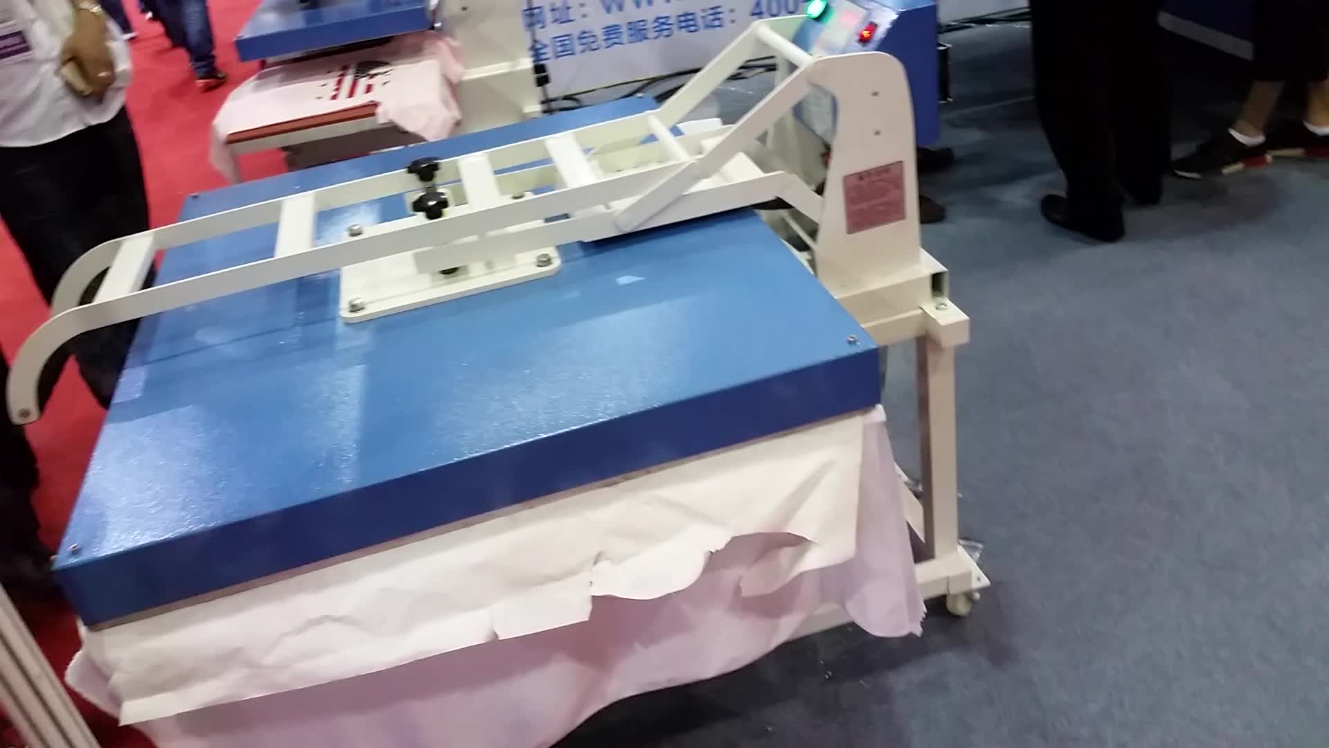 Hot Selling 50*60  inch manuel type Hand punch press transfer plate machines  for t-shirt
