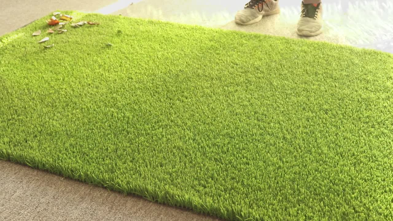 Garden synthetic artificial turf grass for sports equipment floor