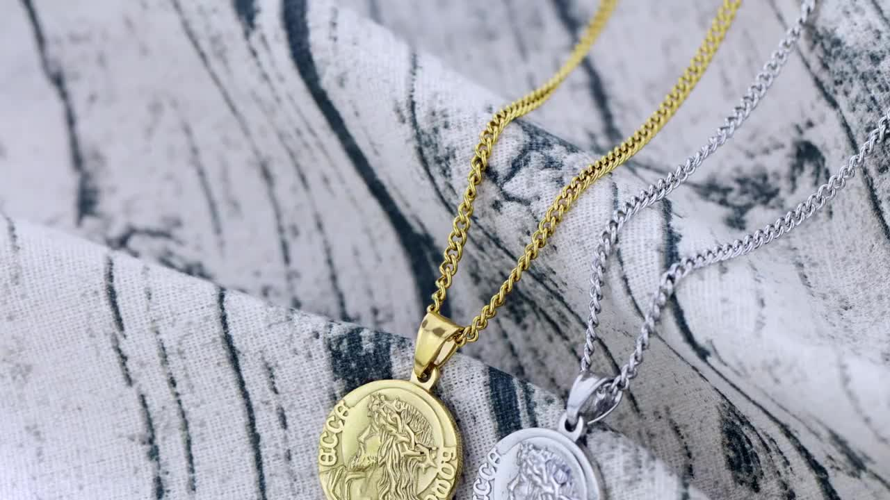 Religious jewelry stainless steel christian necklace jesus necklace