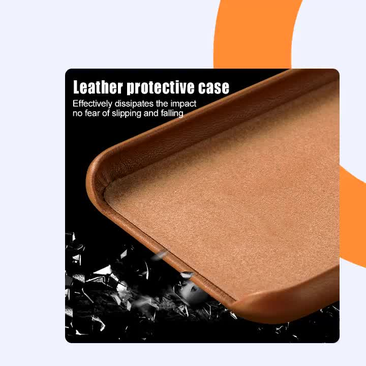 High Quality Classic Genuine Leather Cell Phone Cases For iPhone 11