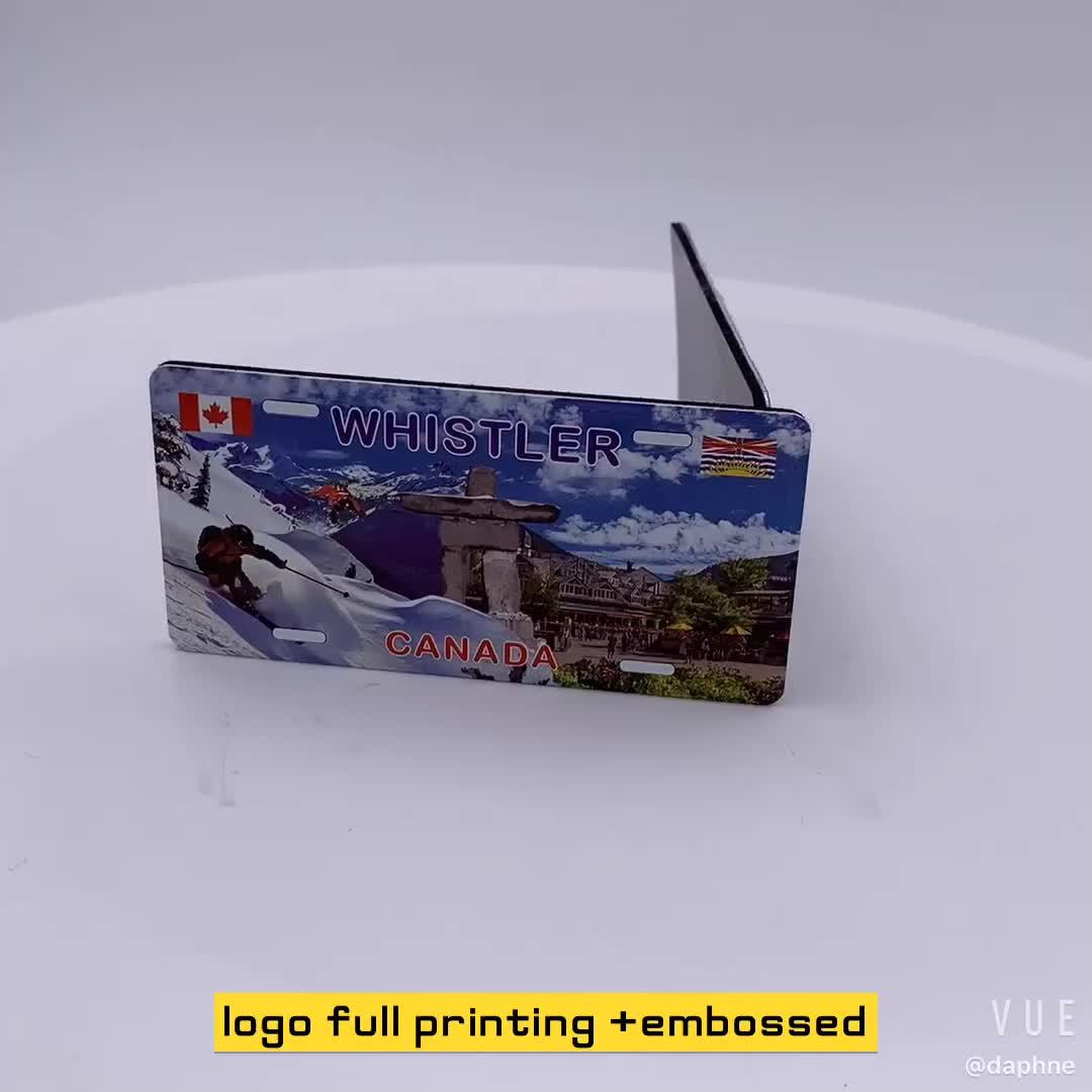 Toptan Logo Tam Baskılı Metal Buzdolabı Mıknatısları Şehir Turist Hediye