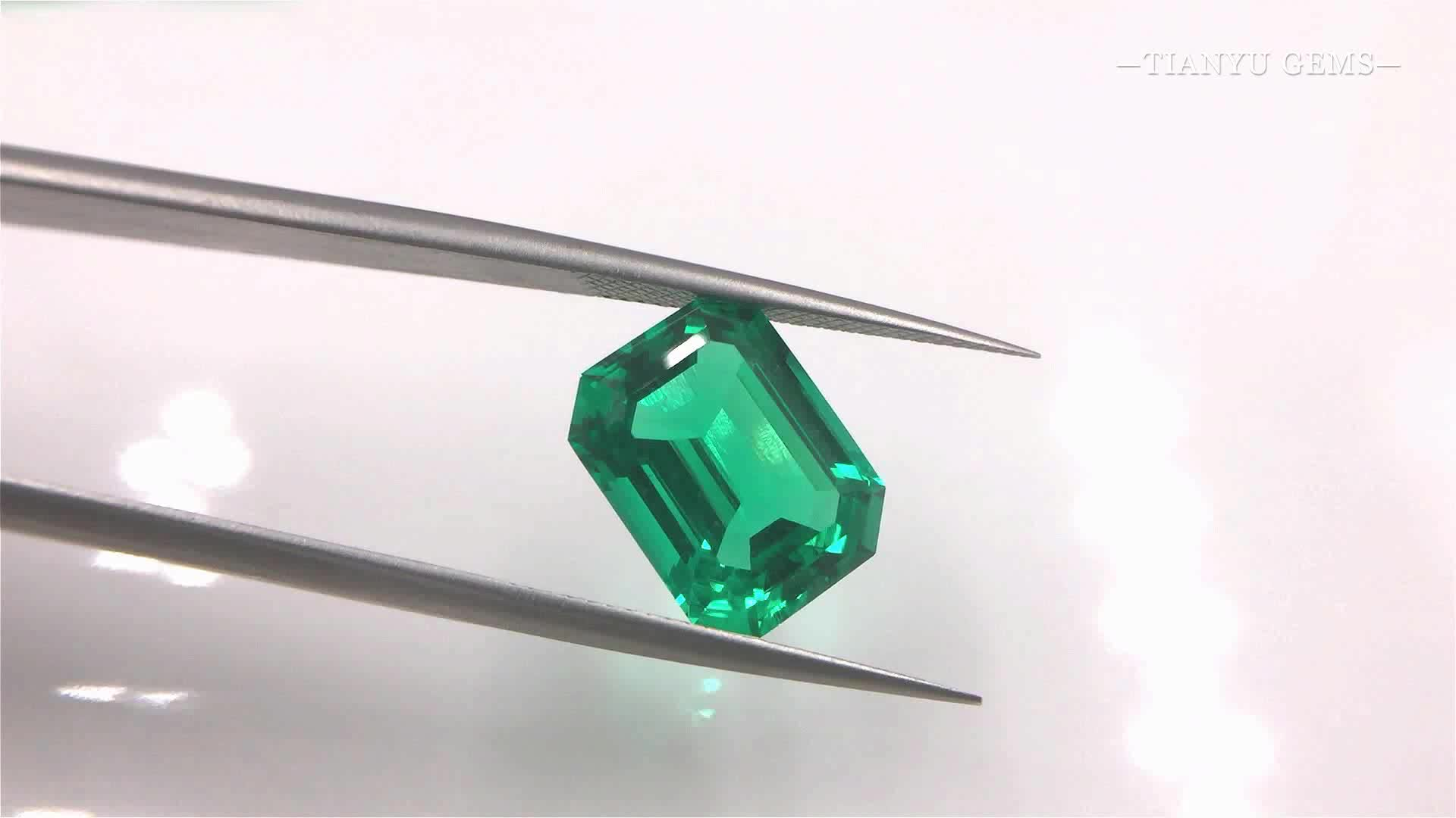 Octagon Step cut 7x9mm Green Synthetic Pure Emerald For Sale, View Octagonl  cut Synthetic Emerald, TIANYU, Tian Yu Gems Product Details from Wuzhou