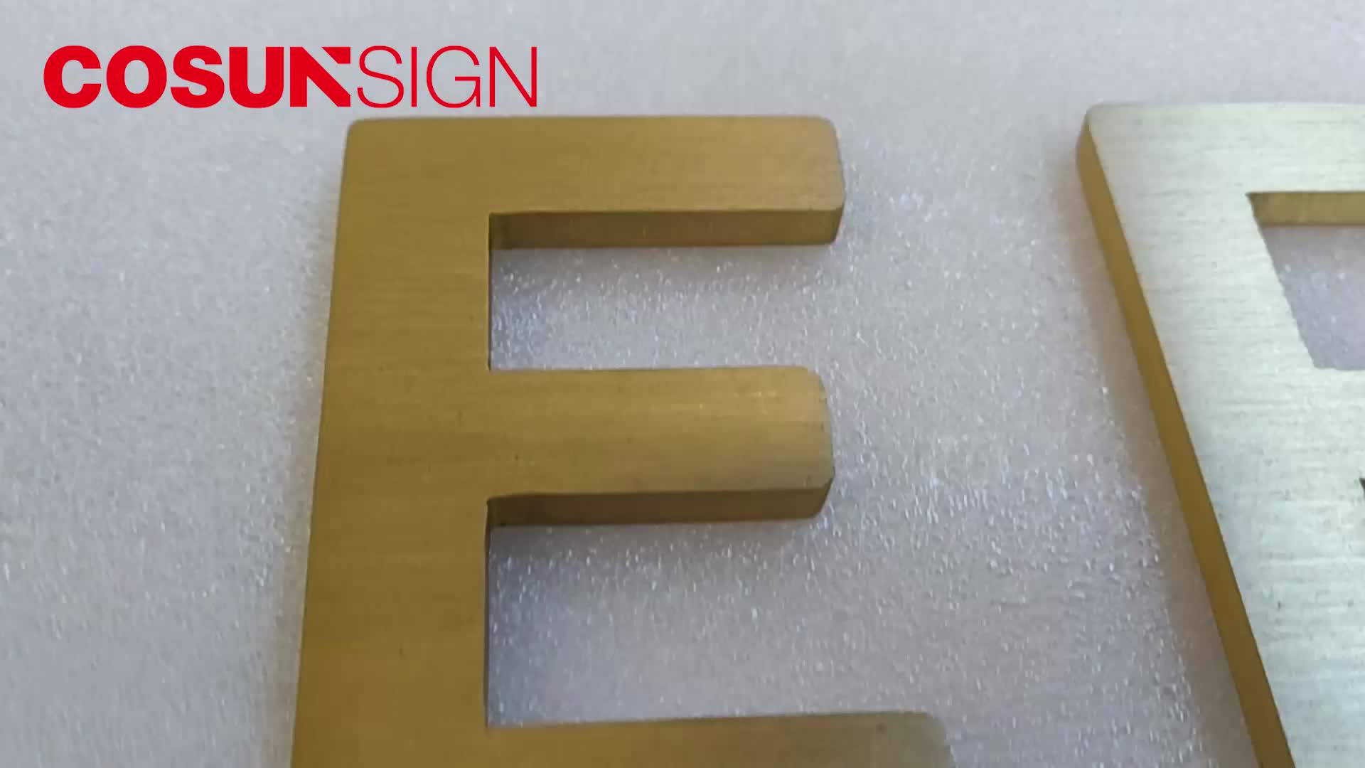 Gold stainless steel metal letter
