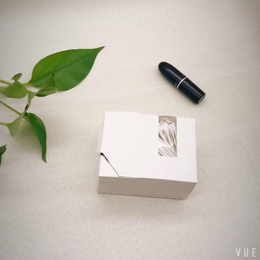 Katoen wol knoppen q tips beauty papier stok Cosmetische wattenstaafjes in Papier Doos