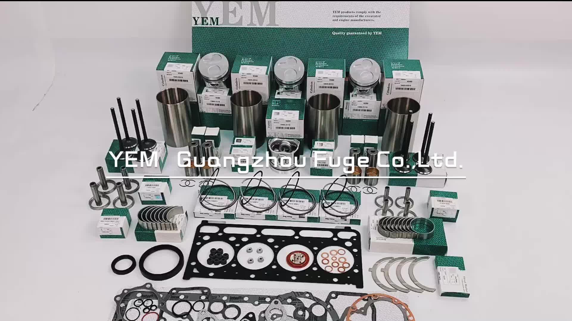 Diesel Engine V2203 Overhaul Kit With Full Gasket Set Engine Bearing Valves For Kubota Engine
