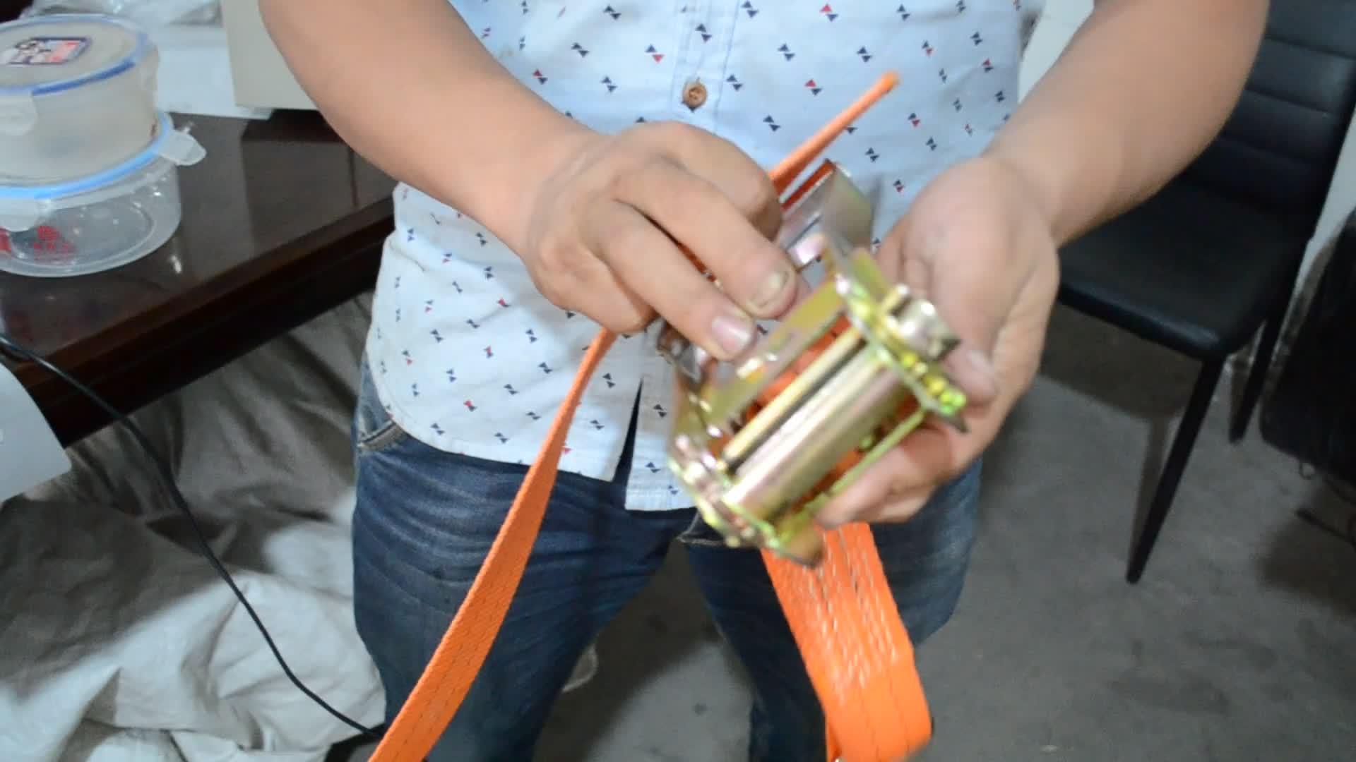 50mm 10m tuv เชือก,tow hook สายคล้อง 4 ตัน,ratchet rope สีเหลืองรถ tow สาย