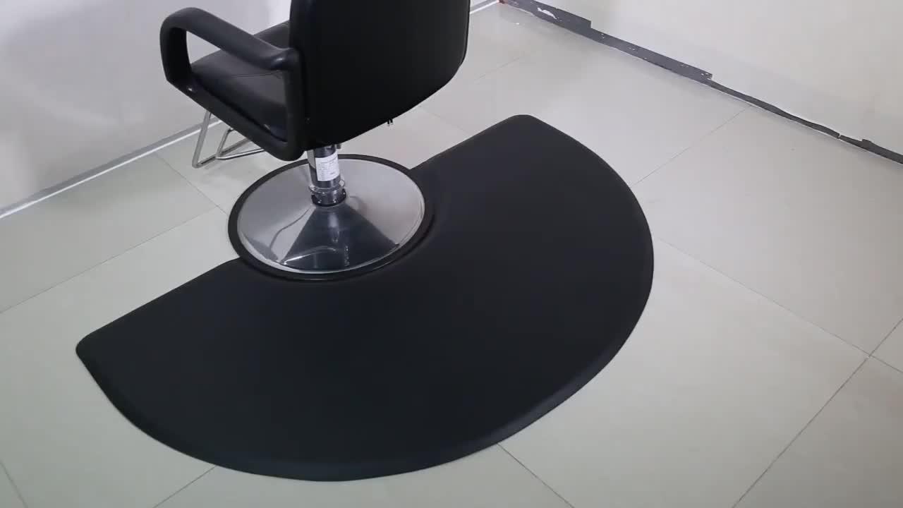 Beleza barbeiro anti fadiga PU cadeira do salão de cabelo estilista esteira do assoalho