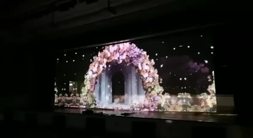 Holographic Stage Projector Screen mesh with vivid effect hologram