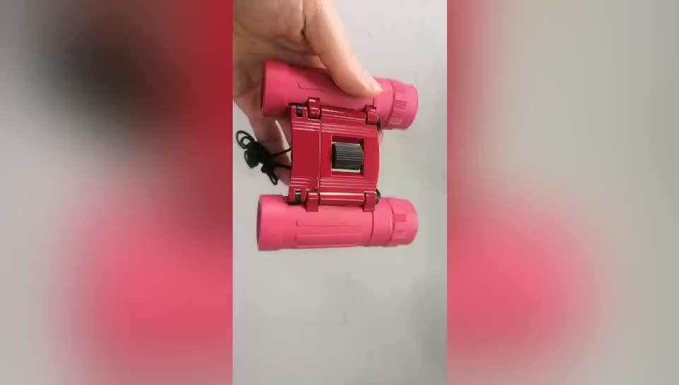 Kingopt OEM compact rosa 8x21 binóculos binóculos para crianças crianças com Borracha coberta