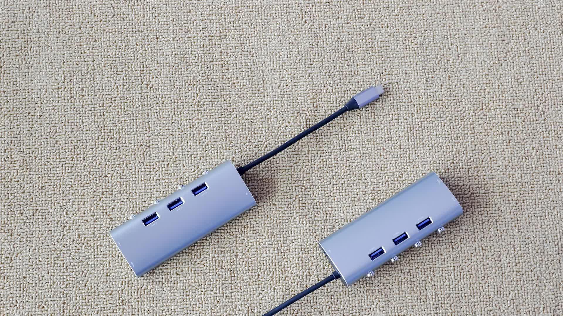 10 Years Factory High Quality HDM1 3x USB3.0 4K Video HD Type C USB Hub