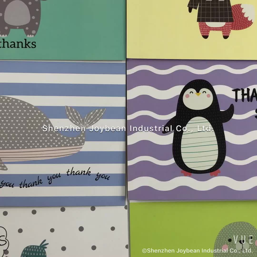 (Can be customized)Wholesale Custom 36/48/100pieces Thank You Cards and Envelope with Packaging Box