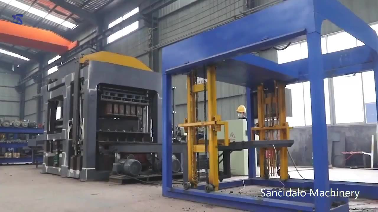 QT8-15 automatic hydraulic cement hollow brick making machine block price