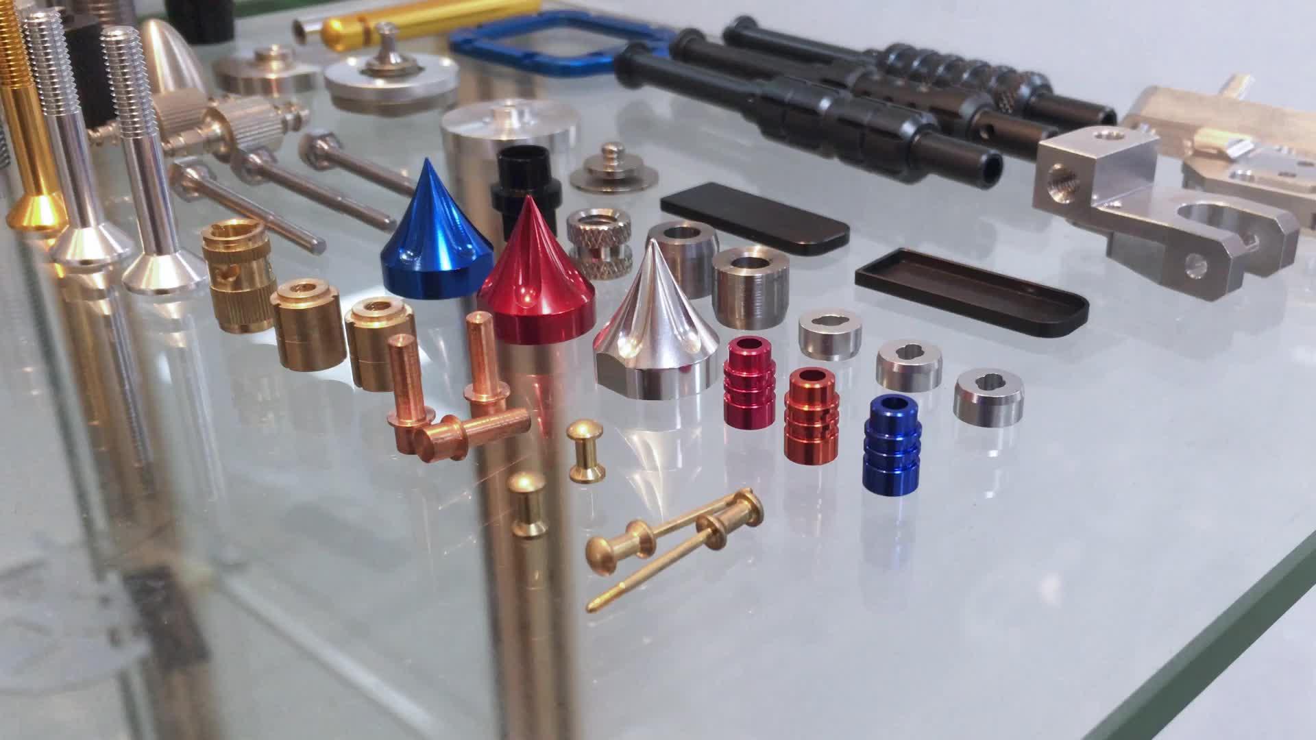 Factory made cnc turning anodized solid aluminum audio knob audio control knob