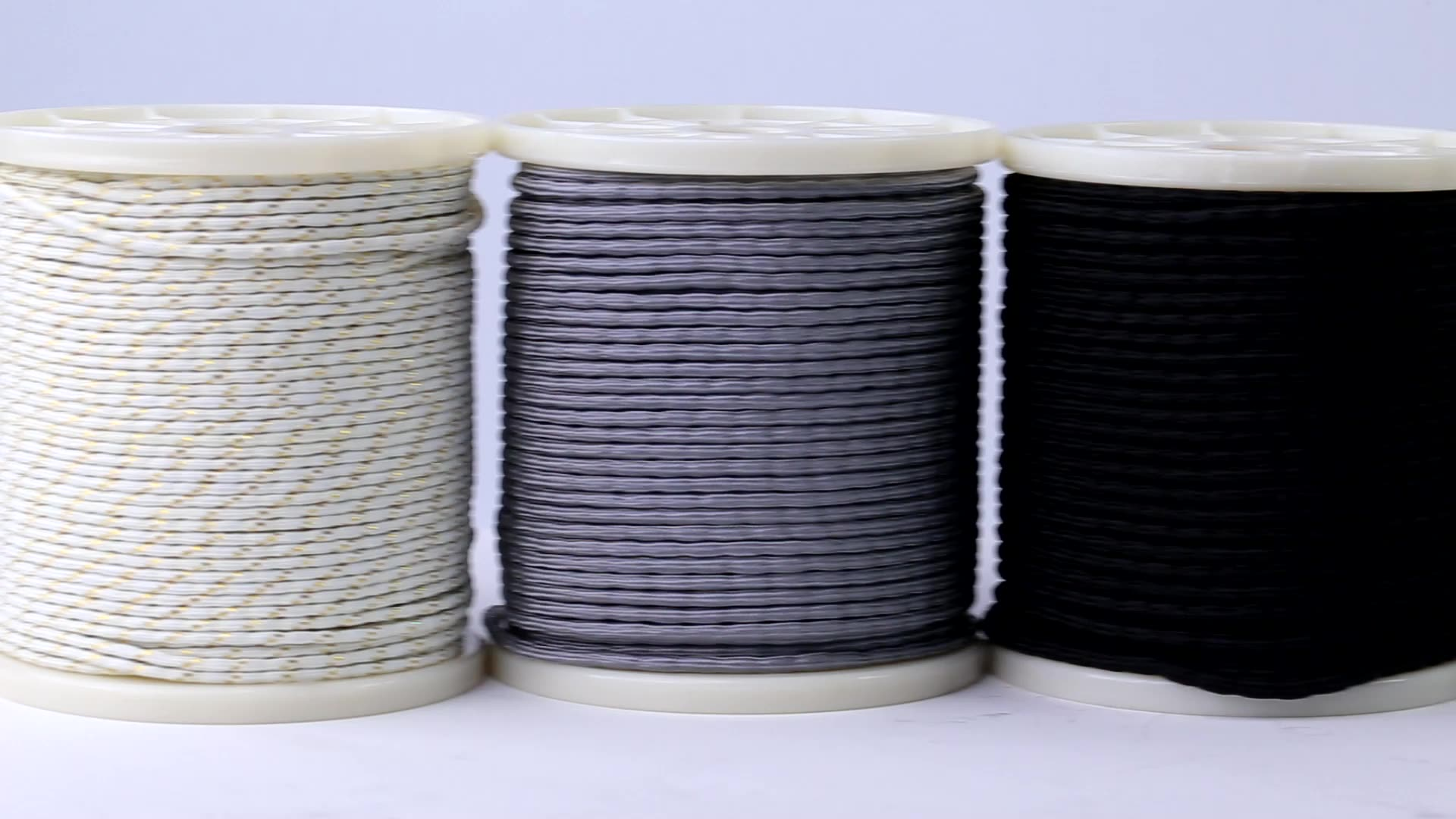Hot sale 15g-200g drapery lead rope spool packing PE braided cover drapery lead  line curtain lead weight