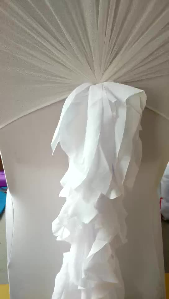 Chair Cover Decoration by Curly Organza Chair Sash