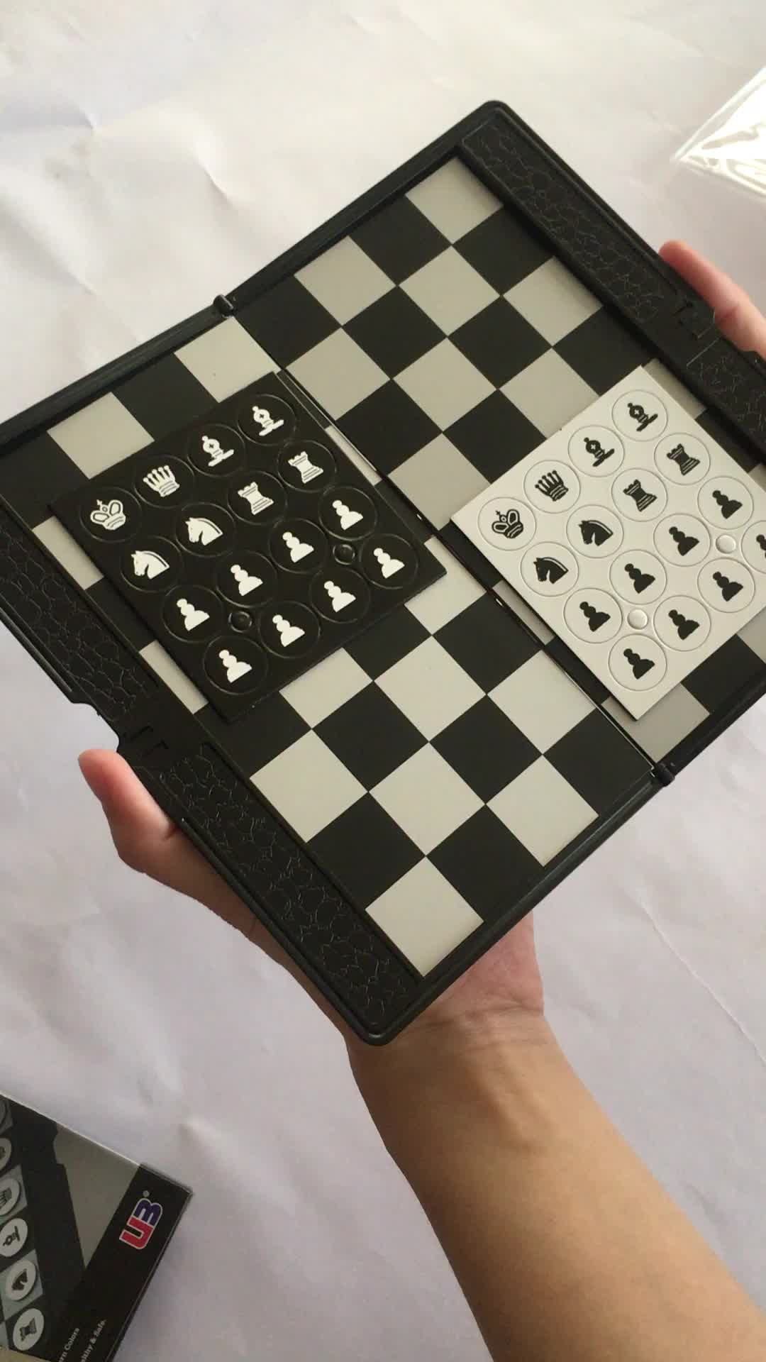 Wallet Traveler Plane & Magnetic Chess Set for Kids Education