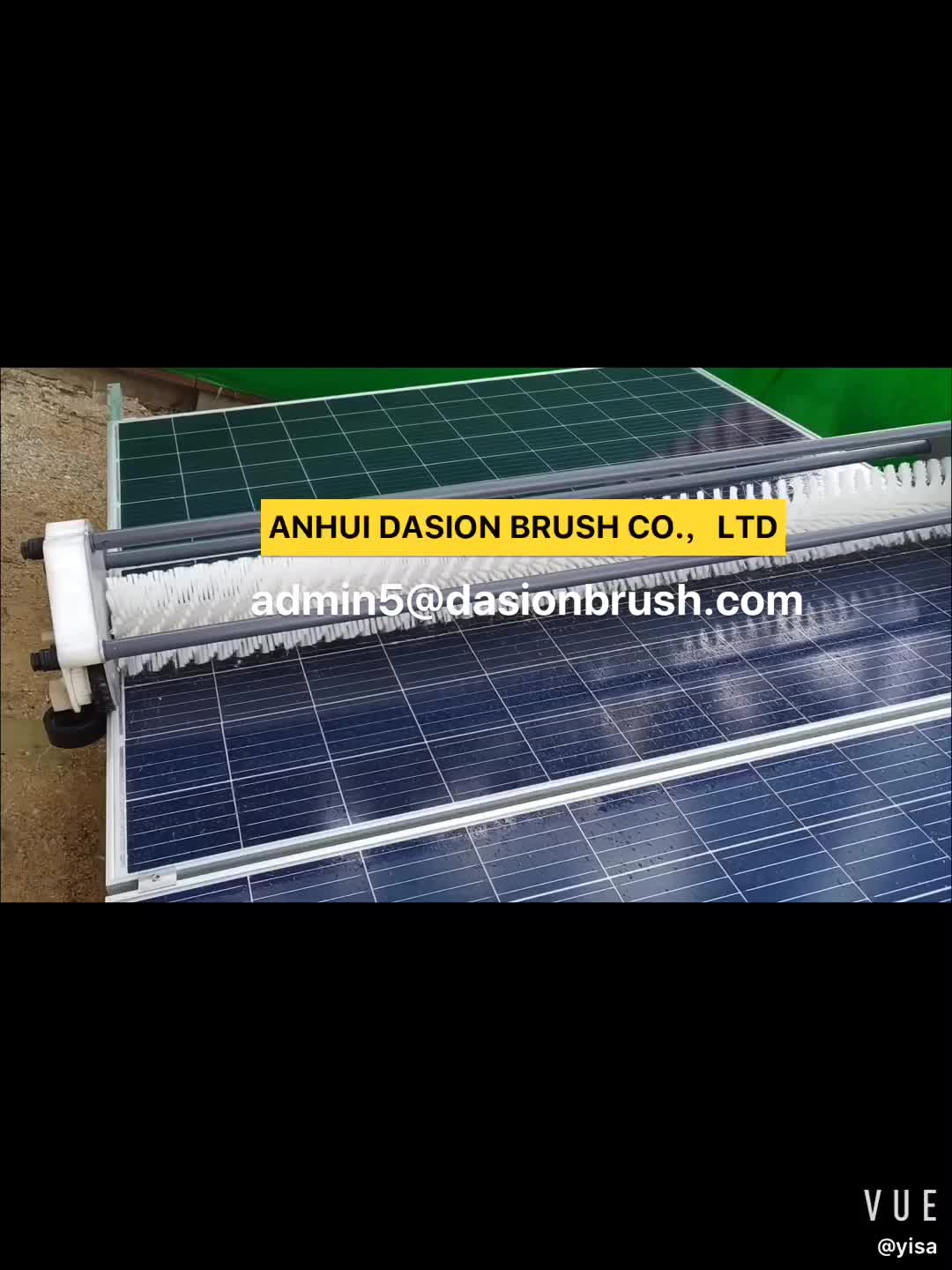 PV Plant Dry Cleaning Solar Panel Roller Brush