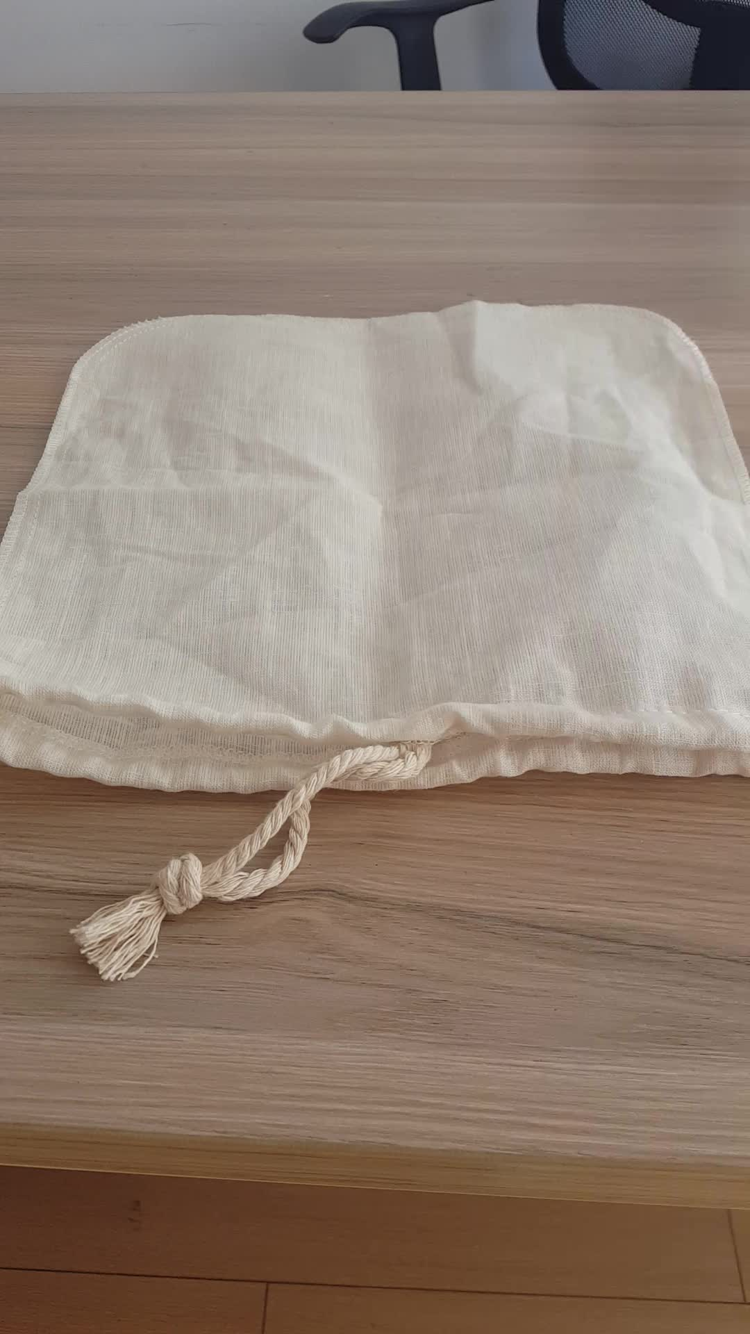 Buena apariencia bien cosido reutilizable de leche de la tuerca bolsa en venta