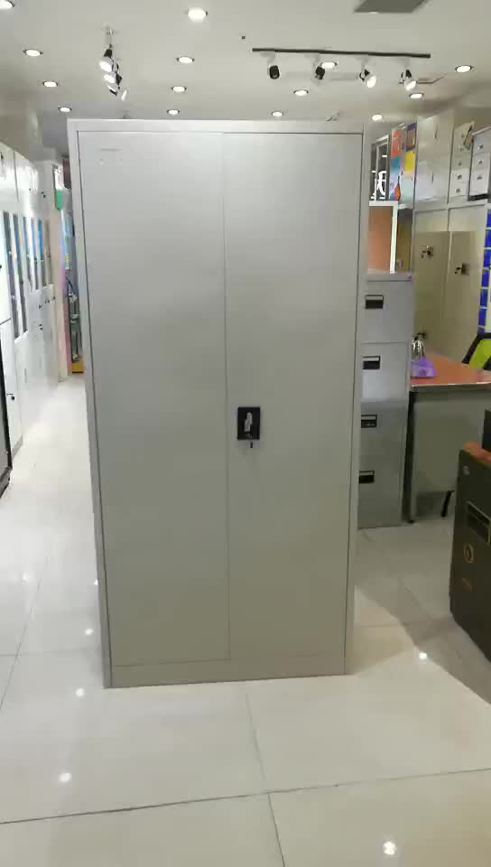High Quality filing cabinets metal 2 Double Swing Door Steel Storage Filing Cabinet