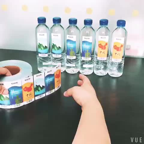 2020 factory  wholesale Paper material adhesive sticker label with logo.