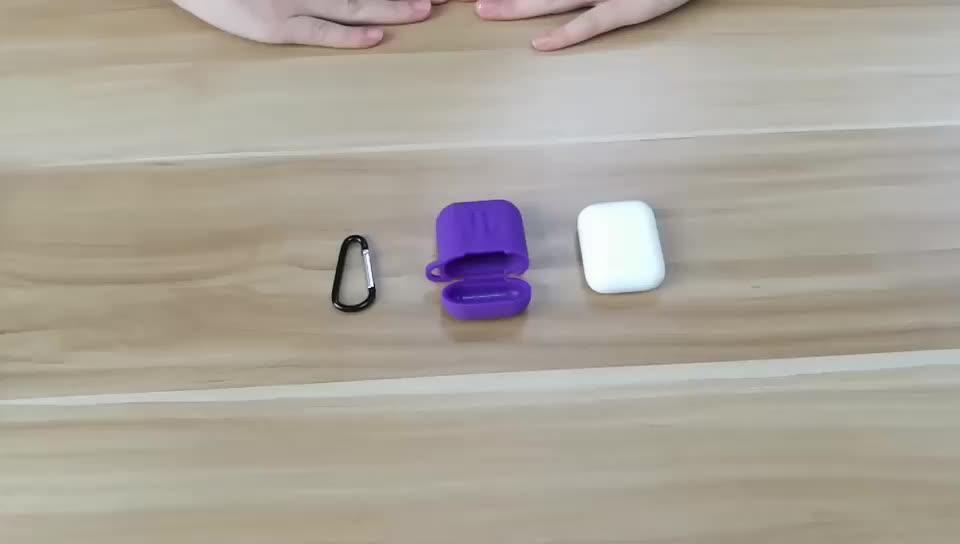 Durevole Custodia protettiva In Silicone con Ganci Per Airpod Per Il Iphone Airpod