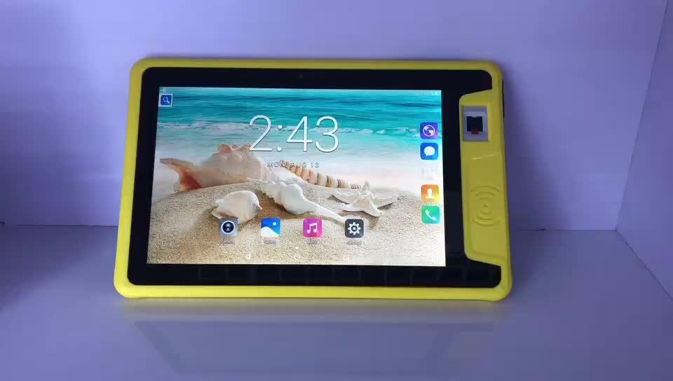 IP67 Tahan Air 10.1 Inch Kasar Android 7.0 Tablet dengan NFC Sidik Jari Membuka 4G Tablet PC