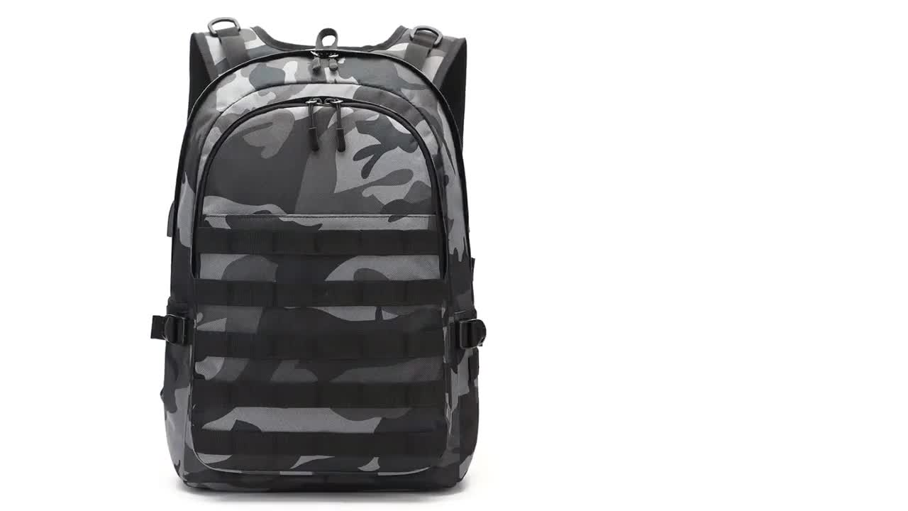 Giftmar fashion 15.6 inch tactical laptop backpack waterproof popular second chance PUBG camouflage military bag L3 hot sale