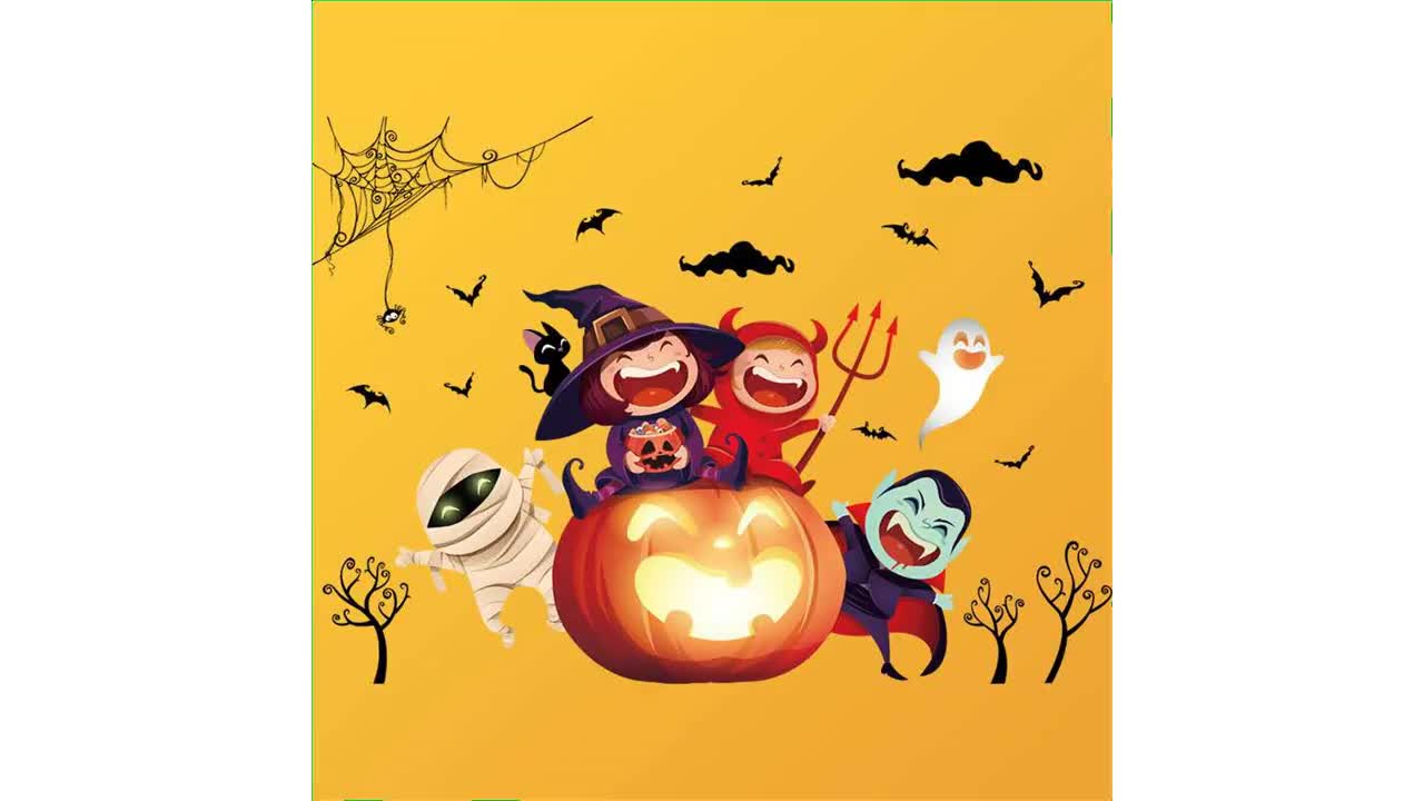 China home decor 3d decoration wall stickers roll  use for HALLOWEEN