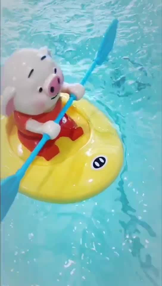 New Design Funny Water Play Baby Bath Shower Toy Rowing Animals Child Bath Toy