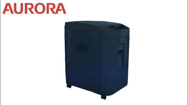 AURORA Automatique déchiqueteuse AS152CM mini coupe croisée 4x12mm, robuste déchiqueteuse pour le Bureau et le bureau à DOMICILE