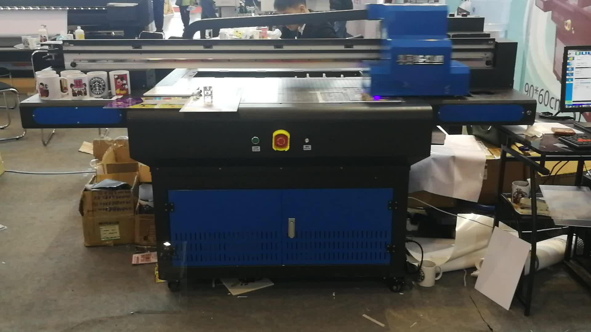 Multicolor 9060 vernis machine flat bed uv printer