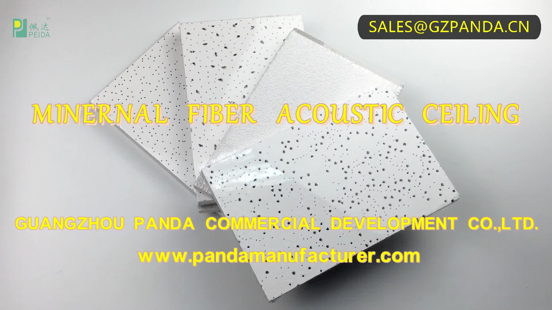 Waterproof and Fireproof Mineral Fiber Ceiling Board