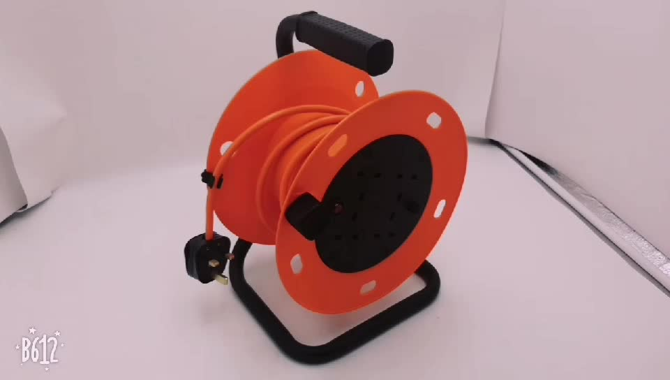 4 WAY 13A 25M 50M H05VV-F 3*1.0mm 3*1.25MM 3*1.5MM BS UK BRITISH EXTENSION CORD CABLE REEL