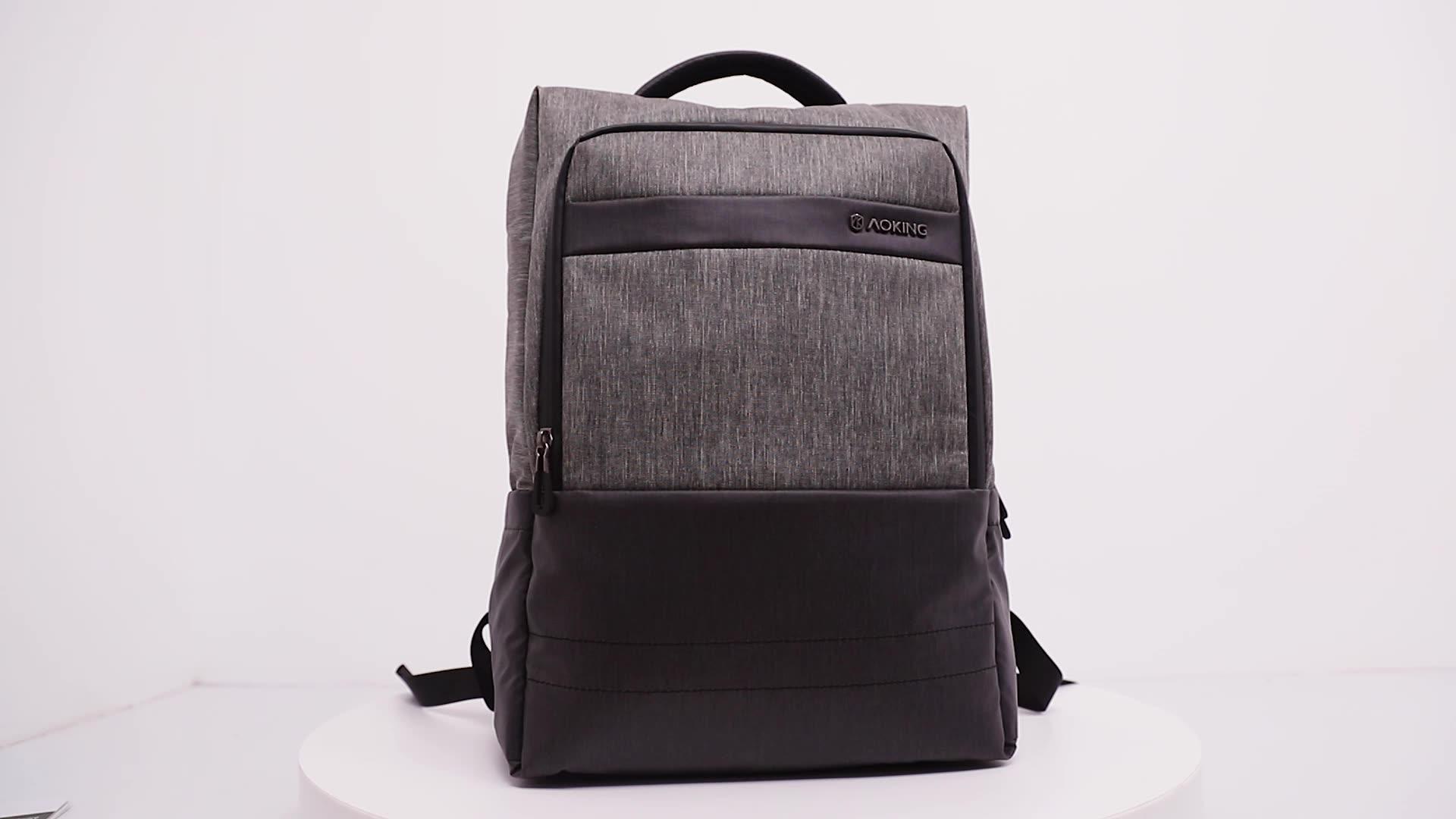 Tas ransel dengan bawah memperbaiki/tali belakang fungsi portable bisnis tas ransel laptop dengan port USB