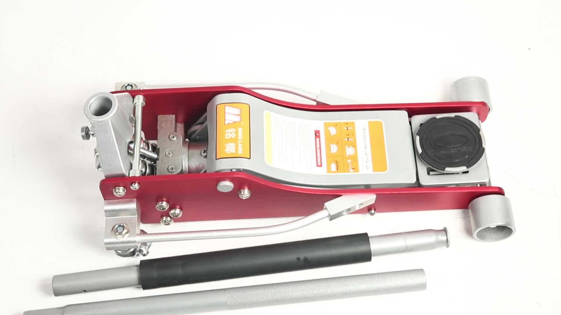 1. 5 टी एल्यूमीनियम स्टील रेसिंग जैक क्षैतिज मोटर वाहन कार मंजिल जैक