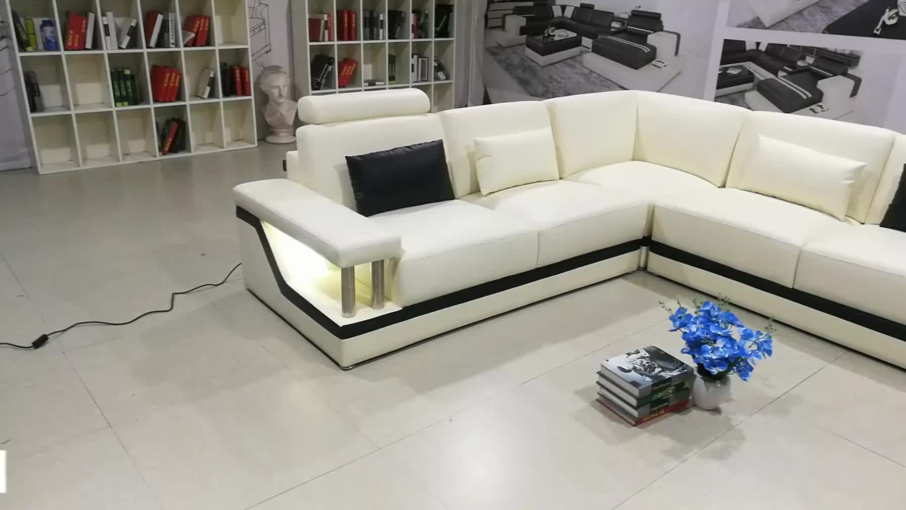 Top quality led modern living room sofa designs and prices
