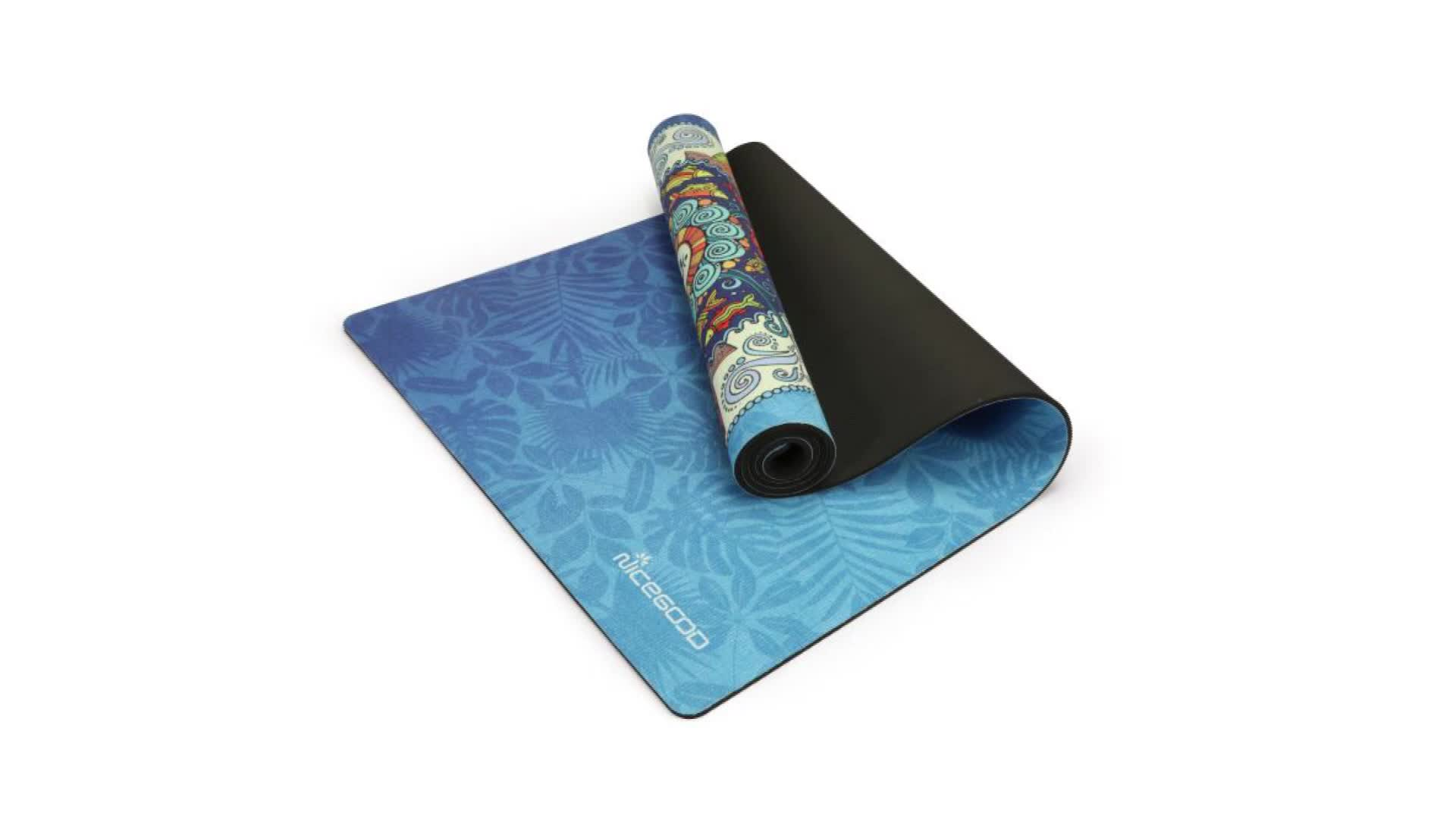 Wholesale custom design yoga mat eco friendly yoga pad suede microfiber