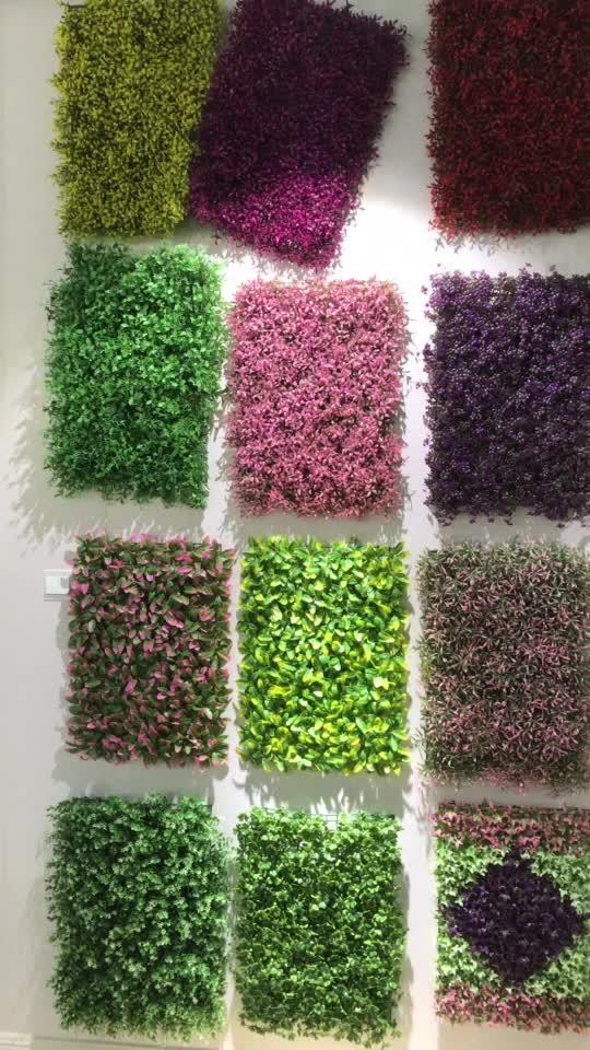 Künstliche grüne Platten der künstlichen grünen Innenanlage der dekorativen Grasinnenpflanzengarten der Kunststoffkastaniehecke