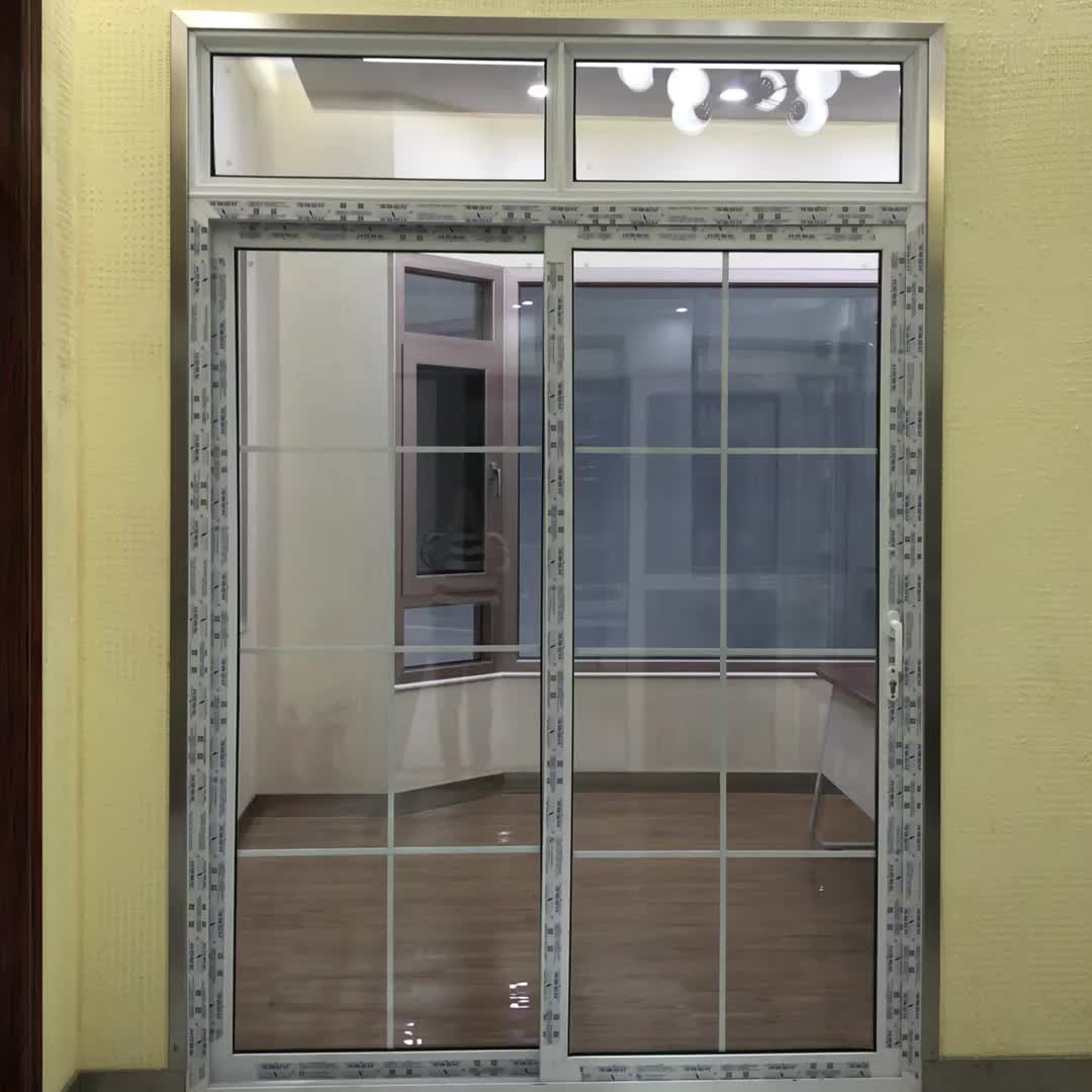 Upvc Modern Sliding Door With Mosquito Net And Multipoint Lock